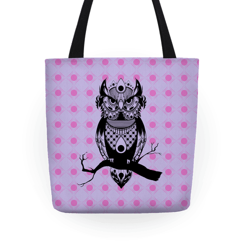 Patterned Owl Tote