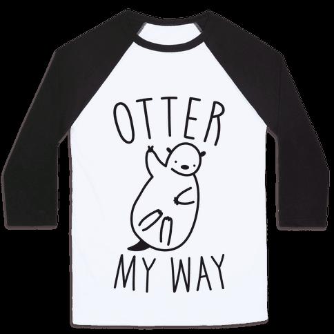 Otter My Way Baseball Tee