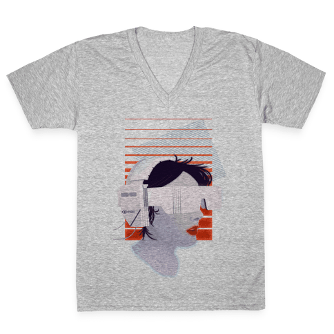 Eye-phone V-Neck Tee Shirt