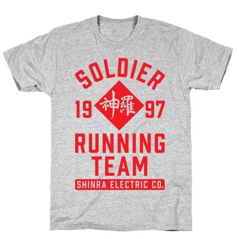 Soldier Running Team Mens T-Shirt