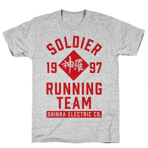 Soldier Running Team Mens T-Shirt