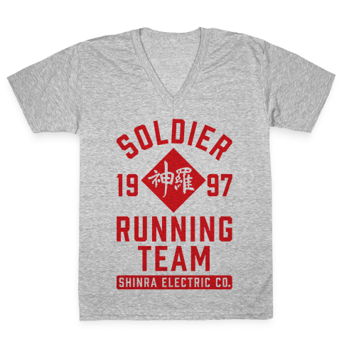 Soldier Running Team V-Neck Tee Shirt