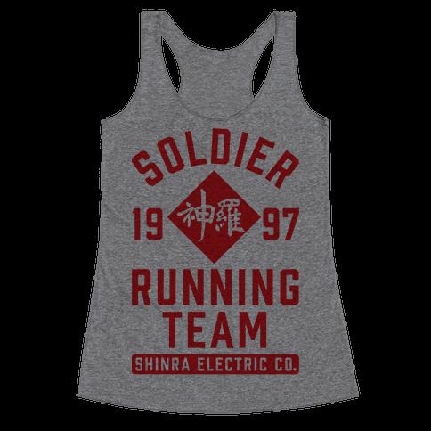 Soldier Running Team Racerback Tank Top