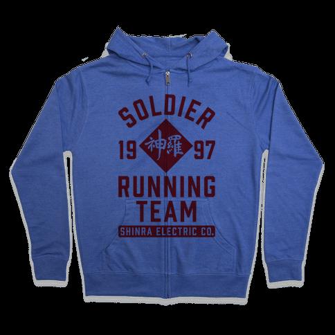 Soldier Running Team Zip Hoodie