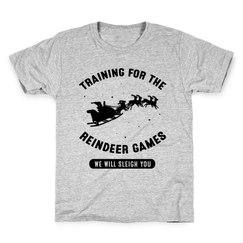 Training for the Reindeer Games Kids T-Shirt