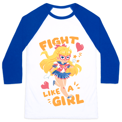 Fight Like A Girl: Venus Parody Baseball Tee