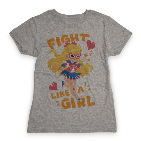 Fight Like A Girl: Venus Parody Womens T-Shirt