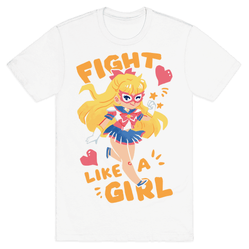 Fight Like A Girl: Venus Parody Mens T-Shirt