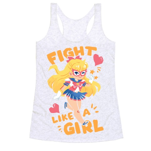 Fight Like A Girl: Venus Parody Racerback Tank Top