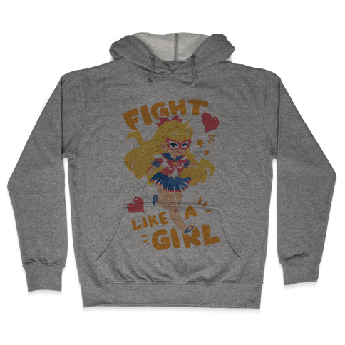Fight Like A Girl: Venus Parody Hooded Sweatshirt