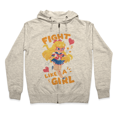 Fight Like A Girl: Venus Parody Zip Hoodie