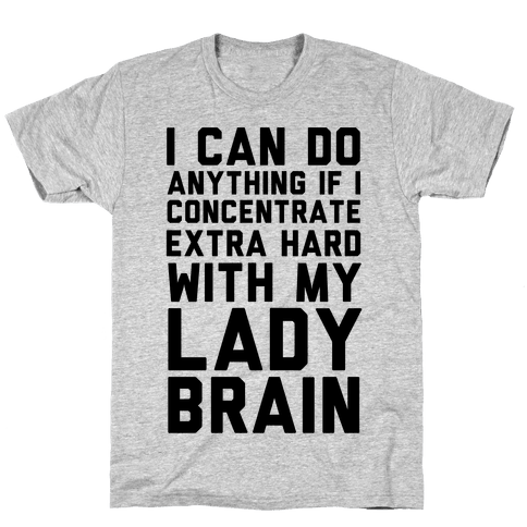Lady Brain Mens T-Shirt