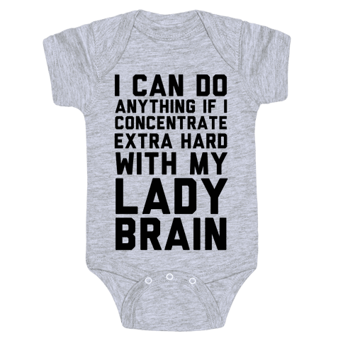 Lady Brain Baby Onesy