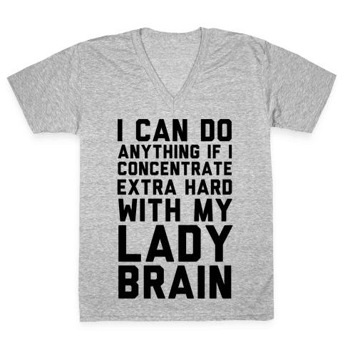 Lady Brain V-Neck Tee Shirt