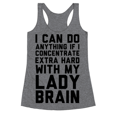 Lady Brain Racerback Tank Top