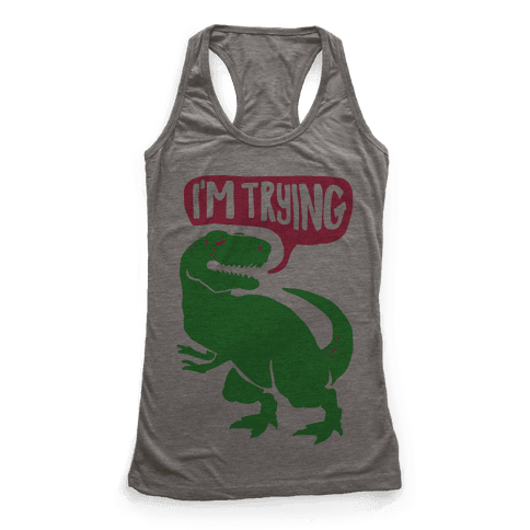 Hug Me Dinosaur (Part Two) Racerback Tank Top