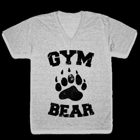 Gym Bear V-Neck Tee Shirt