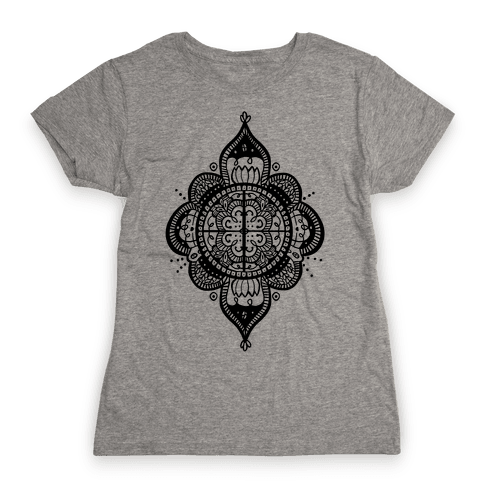 Rangoli Inspiration Pattern Womens T-Shirt