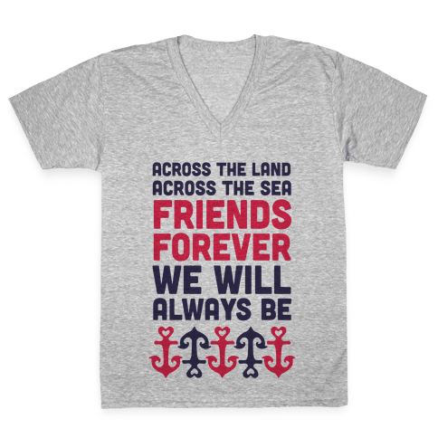 Best Friends We Will Always Be V-Neck Tee Shirt