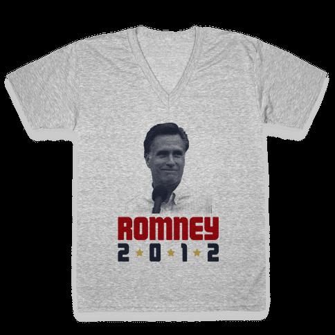 Romney for President! V-Neck Tee Shirt