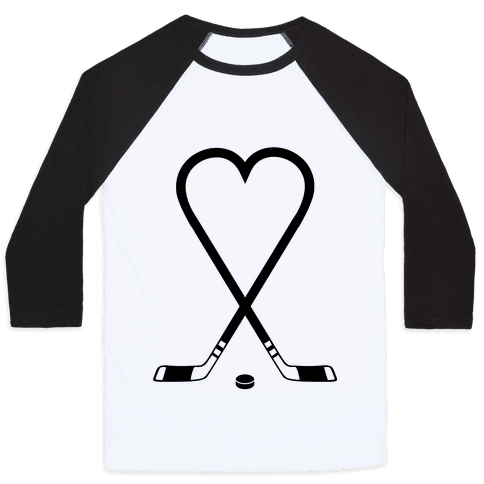 Hockey Love Baseball Tee