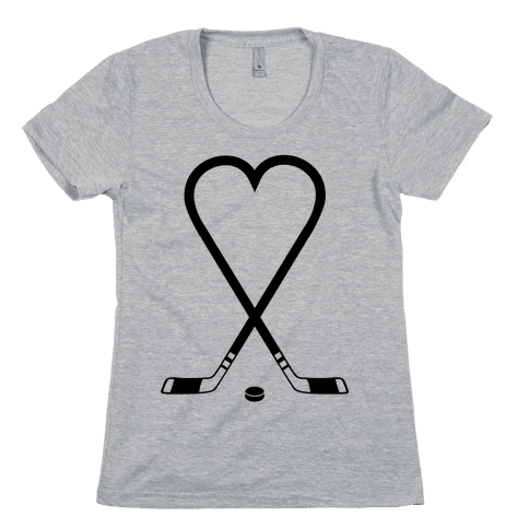 Hockey Love Womens T-Shirt