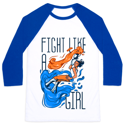 Fight Like a Girl Chell Parody Baseball Tee