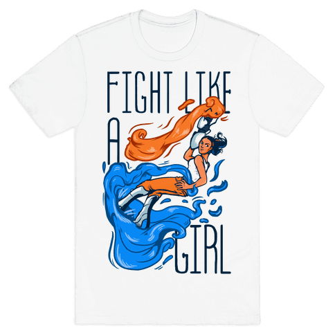 Fight Like a Girl Chell Parody Mens T-Shirt