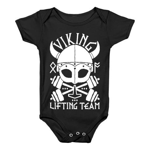 Viking Lifting Team Baby Onesy