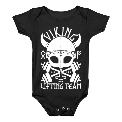 Viking Lifting Team Baby Onesy