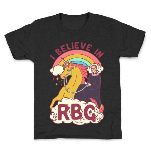 I Believe in RBG Kids T-Shirt