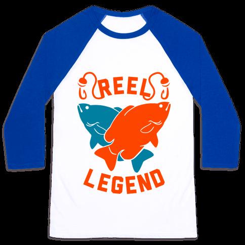 Reel Legend (Color) Baseball Tee