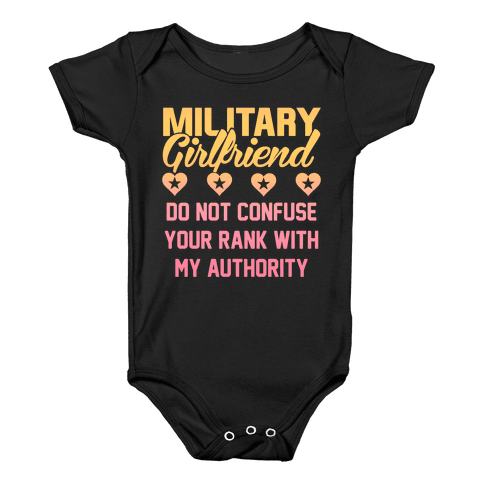 Military Girlfriend Baby Onesy