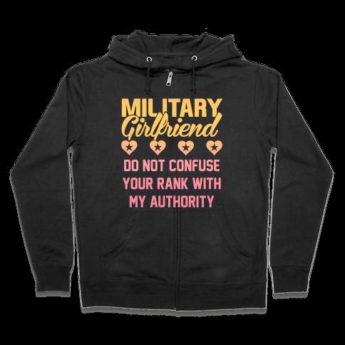 Military Girlfriend Zip Hoodie
