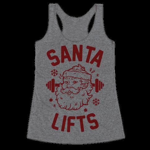 Santa Lifts Racerback Tank Top