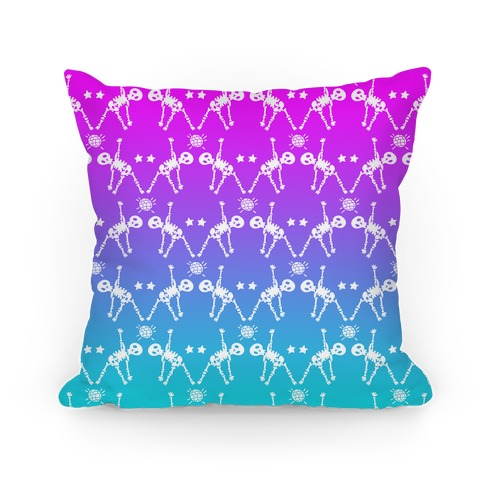 Disco Bones Pattern Pillow
