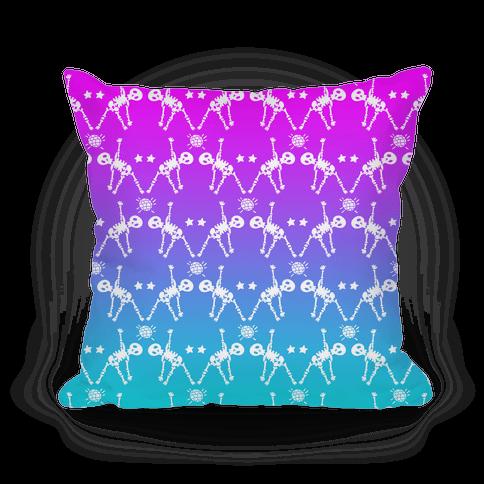Disco Bones Pattern Pillow
