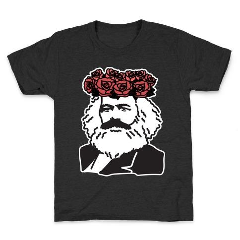 Flower Crown Karl Marx Kids T-Shirt