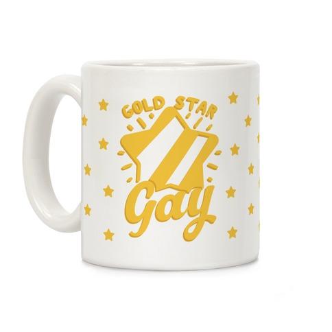 Gold Star Gay Coffee Mug