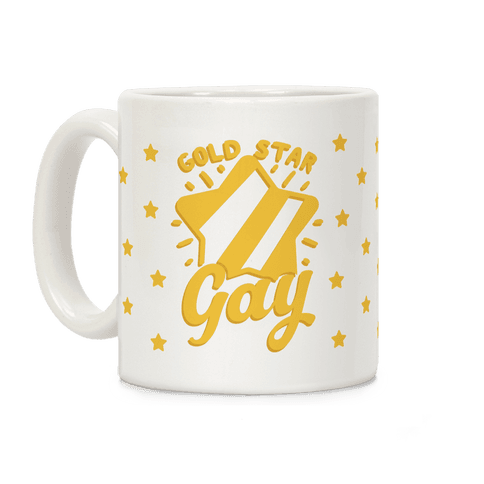 Gold Star Gay Coffee Mug