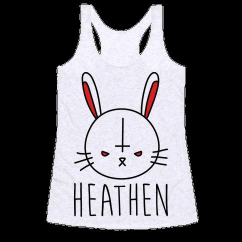 Heathen Easter Bunny Racerback Tank Top