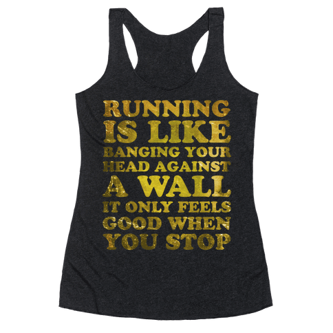 Running Is Racerback Tank Top