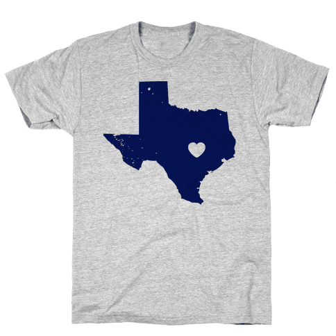 The Heart of Texas Mens T-Shirt