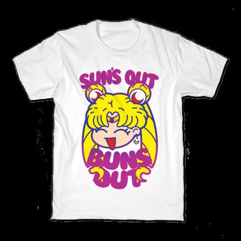 Sun's Out Buns Out Kids T-Shirt