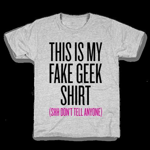 Fake Geek Shirt Kids T-Shirt