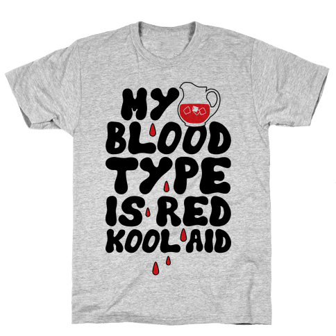 Kool Aid Blood Mens T-Shirt