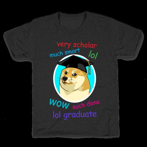 Doge Graduate Kids T-Shirt