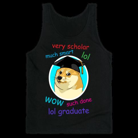 Doge Graduate Tank Top
