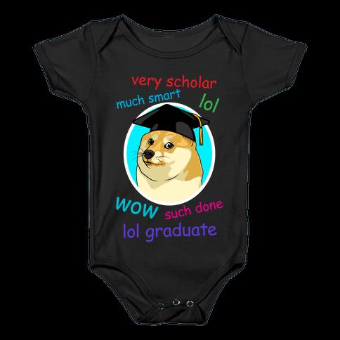 Doge Graduate Baby Onesy
