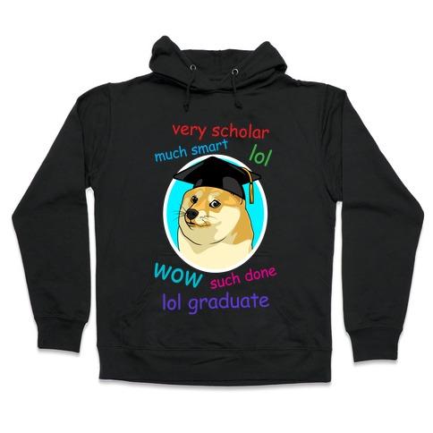 Doge Graduate Hooded Sweatshirt